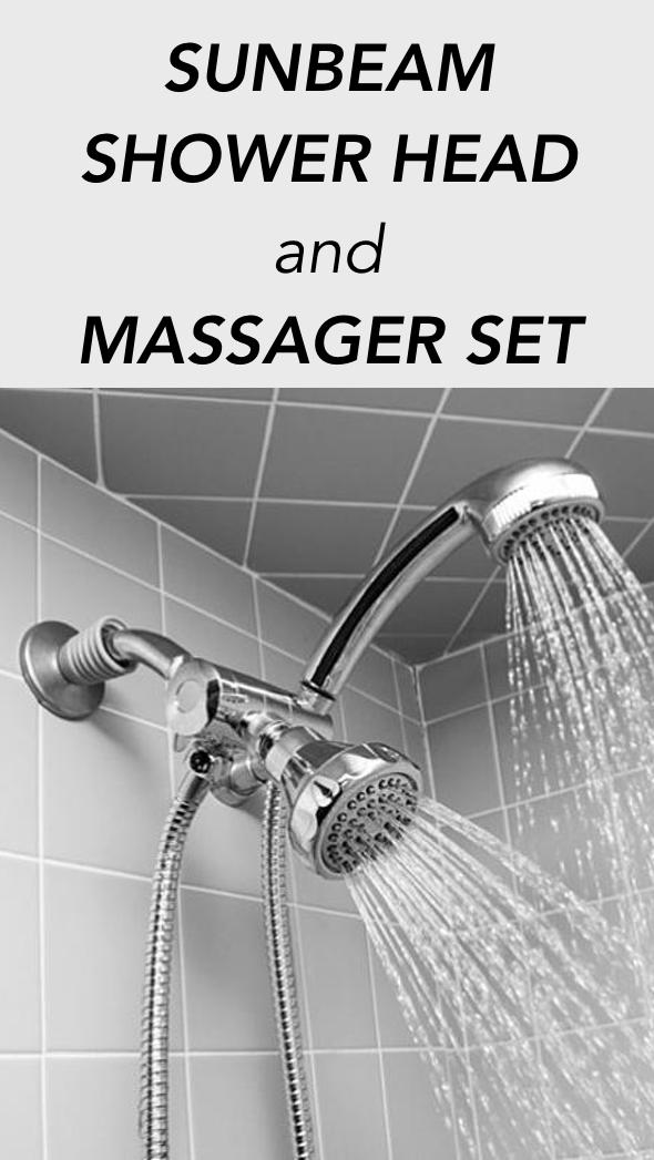 Sunbeam Shower Head And Massager Set Dual Shower Heads Shower