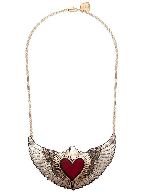 Women - Rosita Bonita - Jewellery - Rosita Bonita Heart & Wings Necklace - no-one