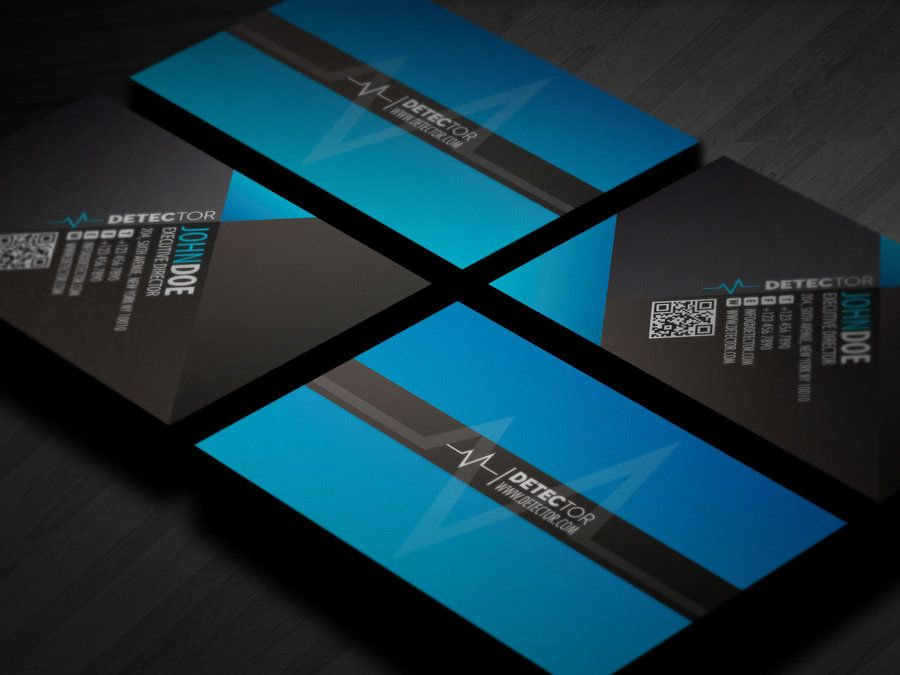 Detector Business card design by ~Lemongraphic on deviantART   - visiting cards