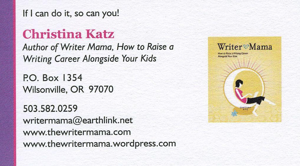 Christina Katz Writer Mama business card