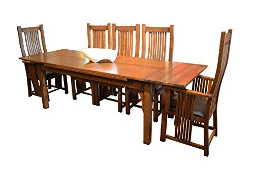 Crafters & Weavers Arts And Crafts Oak Dining Table With Two Prepossessing Arts And Crafts Dining Room Set Design Ideas