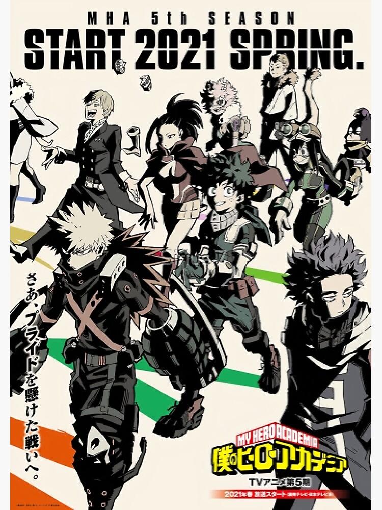 Boku No Hero Academia My Hero Academia Season 5 Anime Poster By Elbatel Redbubble My Hero My Hero Academia Episodes My Hero Academia