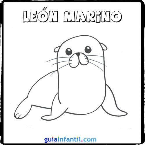 Related Image Animales Marinos Dibujos De Animales Leon Marino