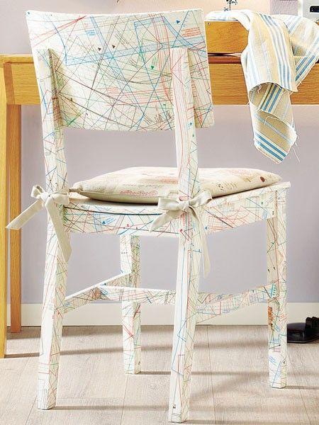Drei Ideen Zum Stuhle Aufpeppen Alte Stuhle Stuhle Alte Holzstuhle