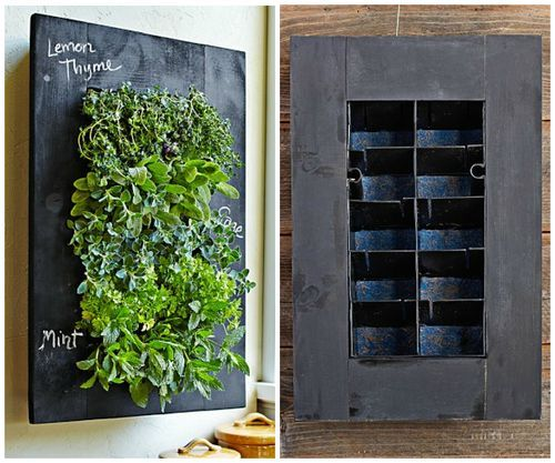 Chalkboard Herb Wall Planter Home Herb Wall Planters Garden