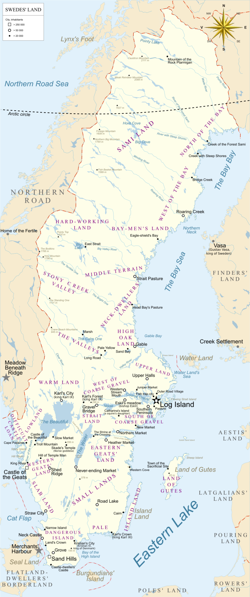 Etymological Map Of Sweden Historical Maps History Travel Map
