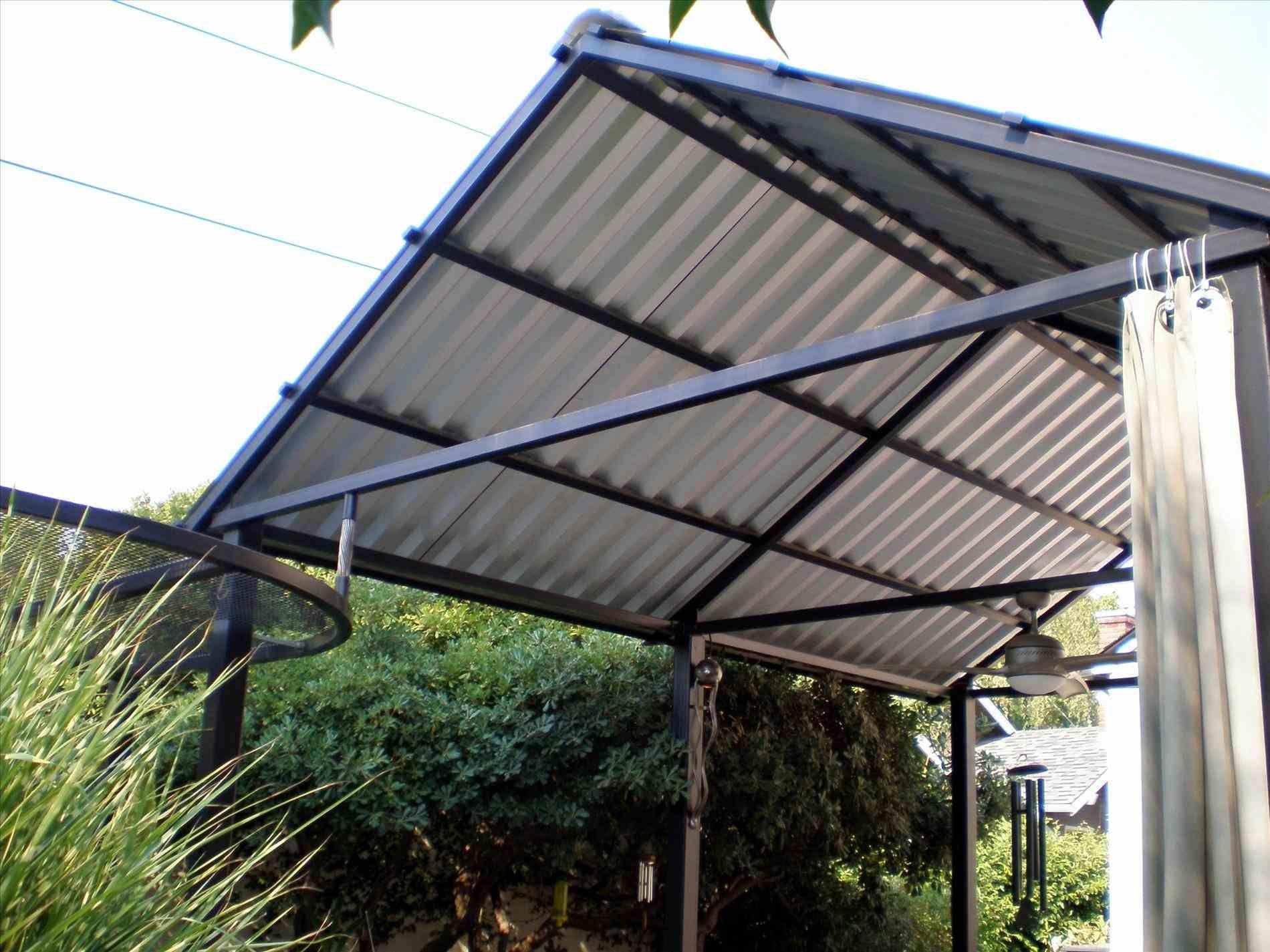 Roofing Top Designs Pergola, Patio roof, Metal roof