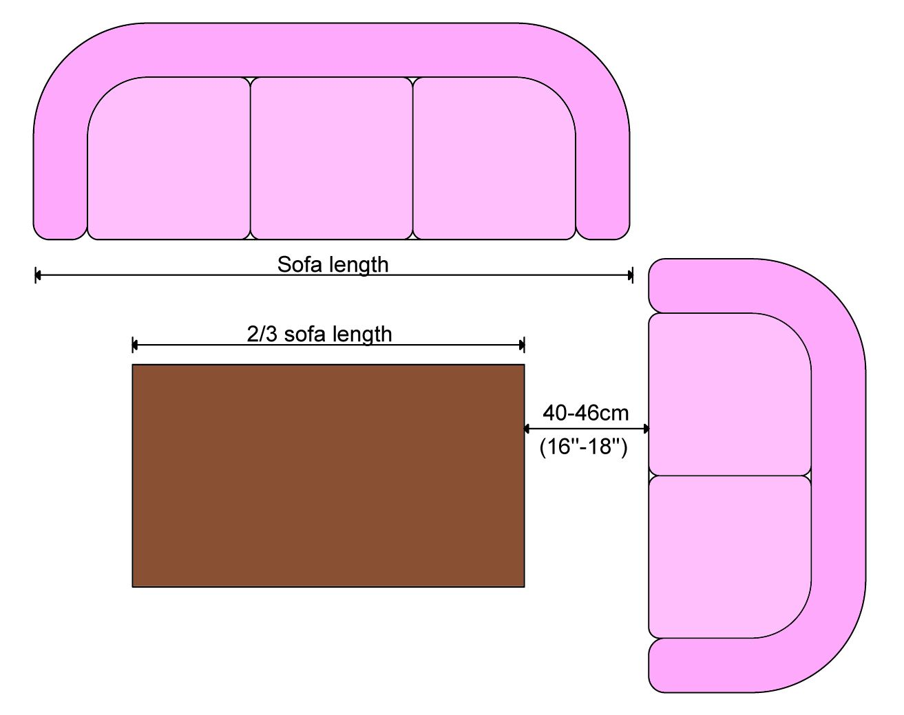Coffee Table Size Coffee Table Length Coffee Table Measurements