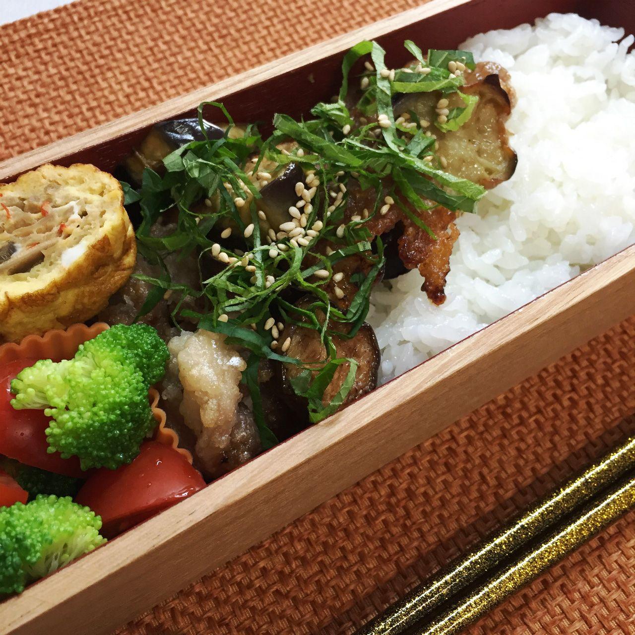 Deep-fried pork & eggplants marinated in ponzu sauce
