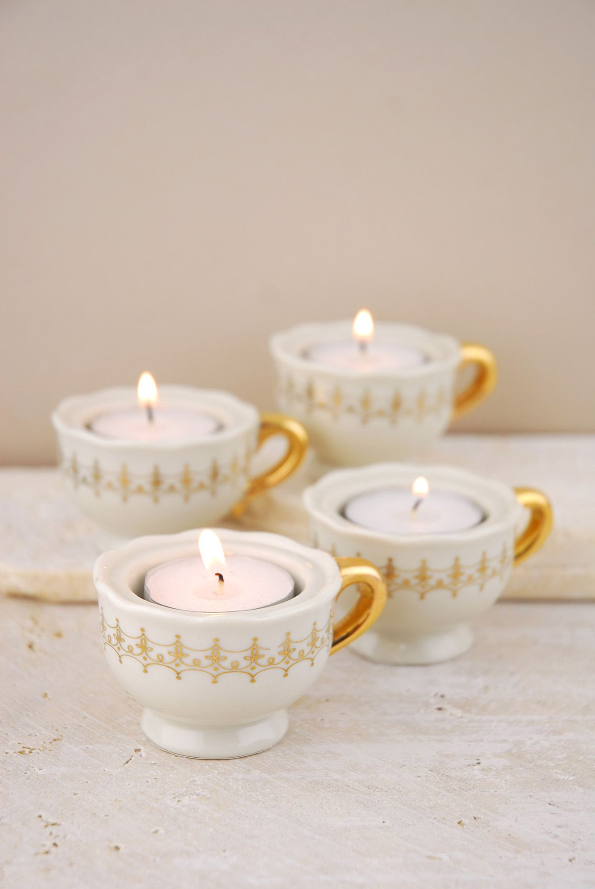 Mini teacup candle holders | Teacup, Event decor and Bridal showers