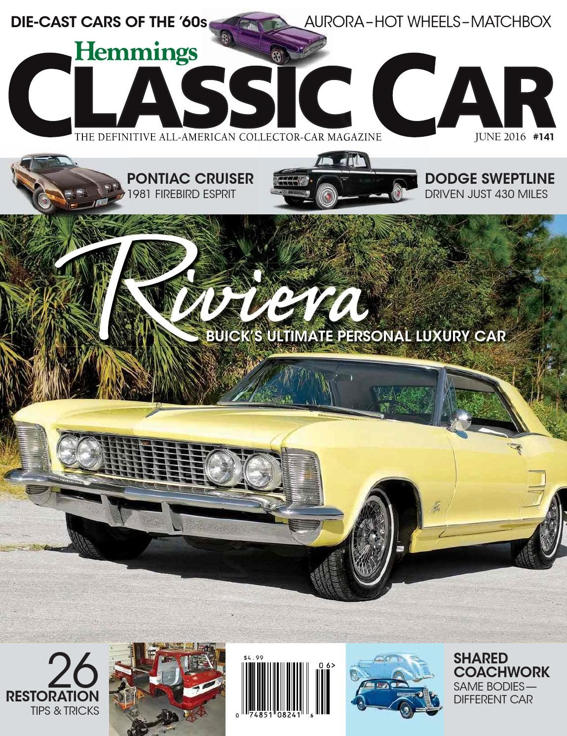 Hemmings Classic Car June Online Magazine Pinterest