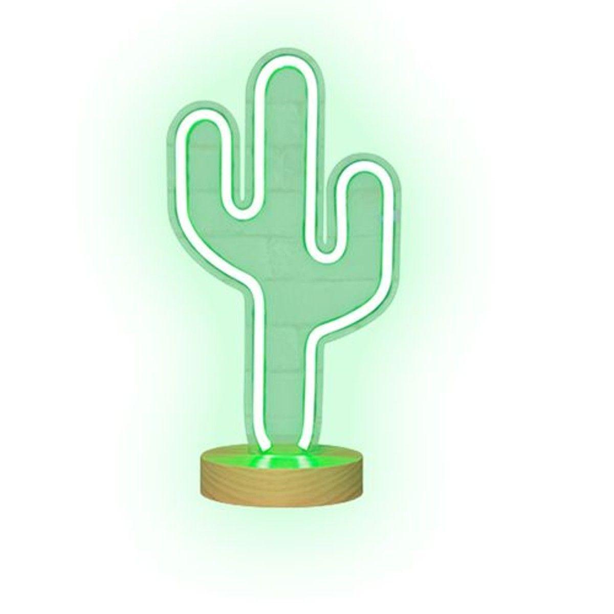 En Sur Cactus 41 Lampe Cm 2019Products Vert Pied Néon HYE2DW9I