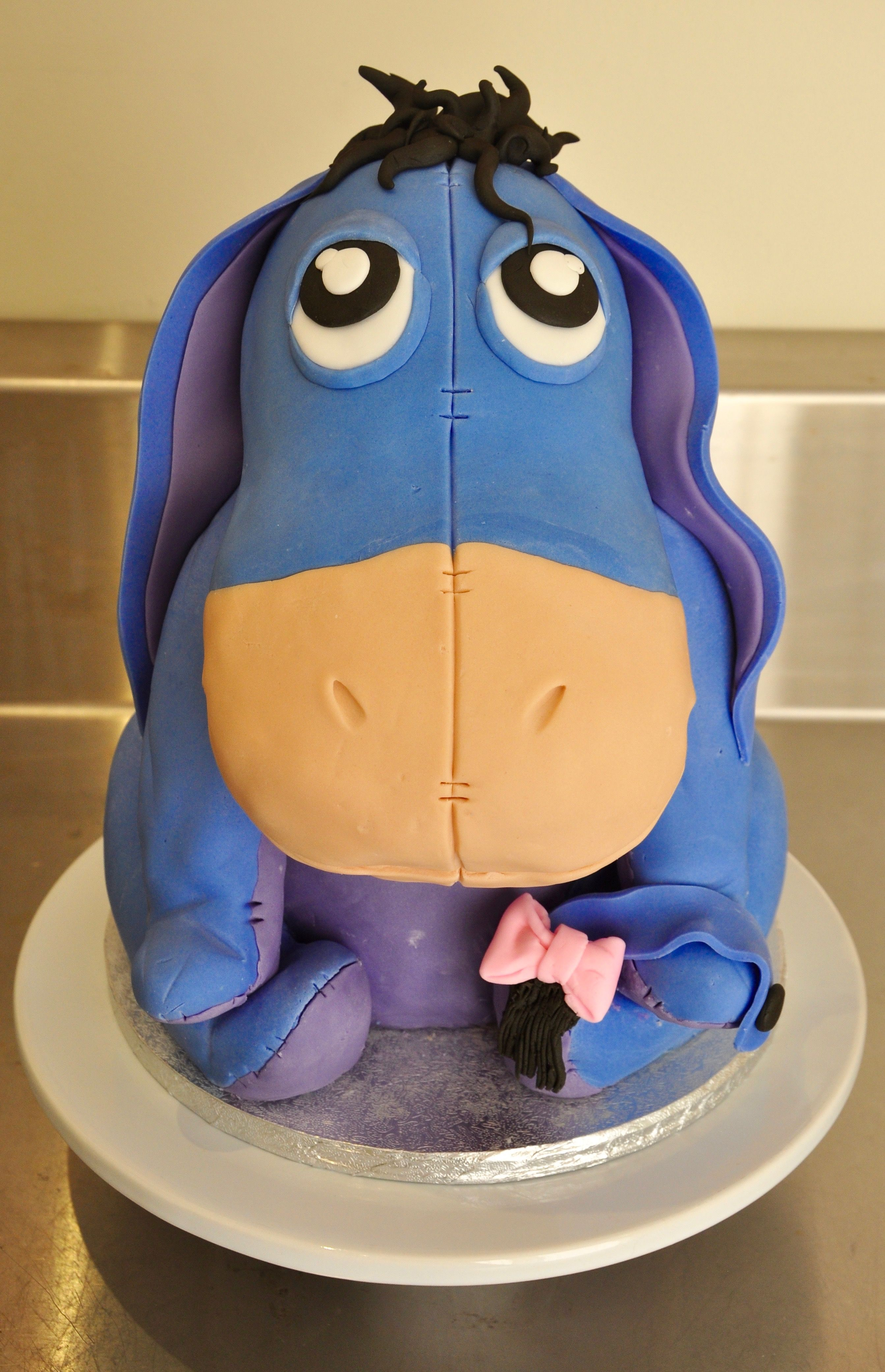Magnificent Eeyore Birthday Cake Head Is Styrofoam Body Arms And Legs Are Funny Birthday Cards Online Inifofree Goldxyz