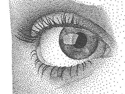 Stippling This Is Called Pointillism Or Stippling And Anybody