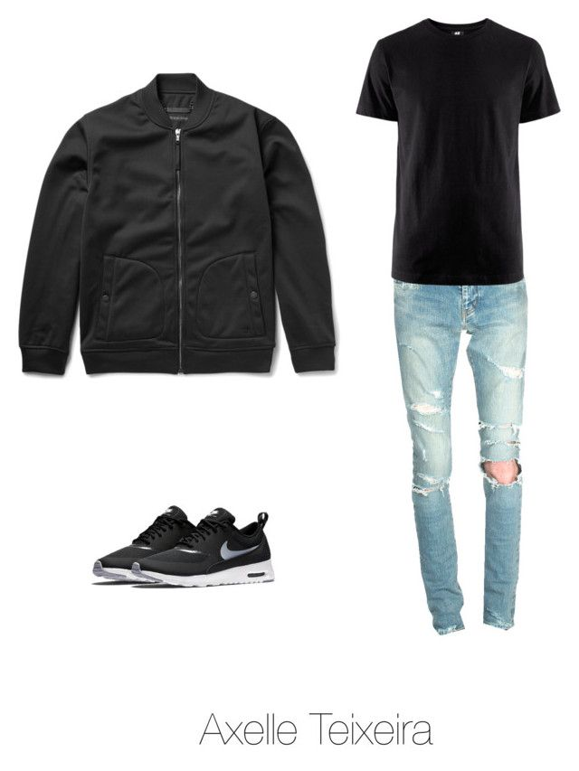 """""""Untitled #109"""" by axelleteixeira ❤ liked on Polyvore featuring Marc by Marc Jacobs, Yves Saint Laurent, H&M and NIKE"""