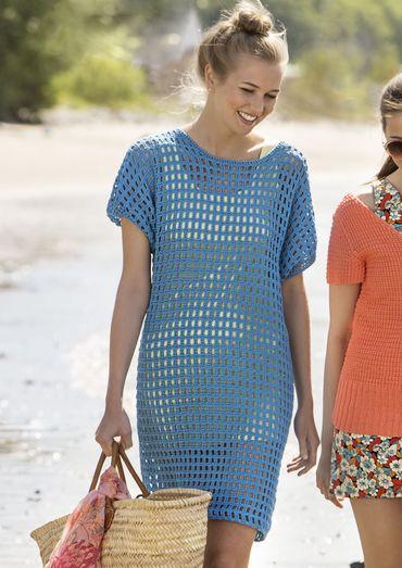 Gehäkeltes Strandkleid aus Catania - Passt perfekt über… | Damen ...