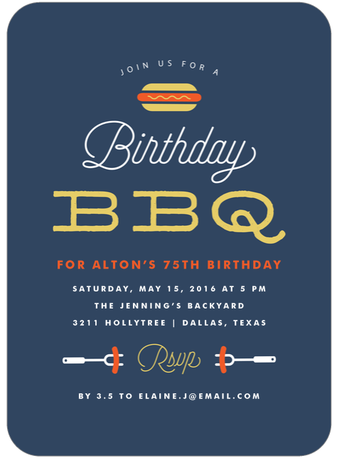 The best 75th birthday invitations and party invitation wording if youre planning a cookout for the 75th birthday check out these fun invitations filmwisefo