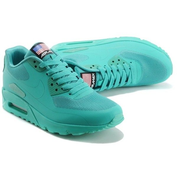 Nike Air Max 90 Hyperfuse QS Mens Shoes Apple Green ($91) ❤ liked on