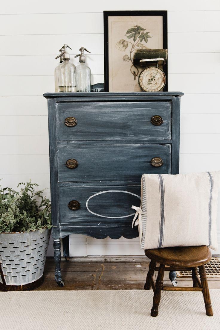 Vintage Black Dresser Makeover Modern Farmhouse Living Room Decor Farmhouse Decor Living Room Furniture [ 1102 x 736 Pixel ]
