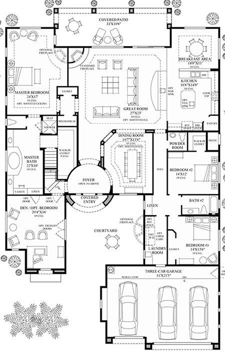 Monteloma At Windgate Ranch Scottsdale Desert Willow Collection Luxury New Homes In Scottsdale Home Design Floor Plans House Floor Plans Dream House Plans