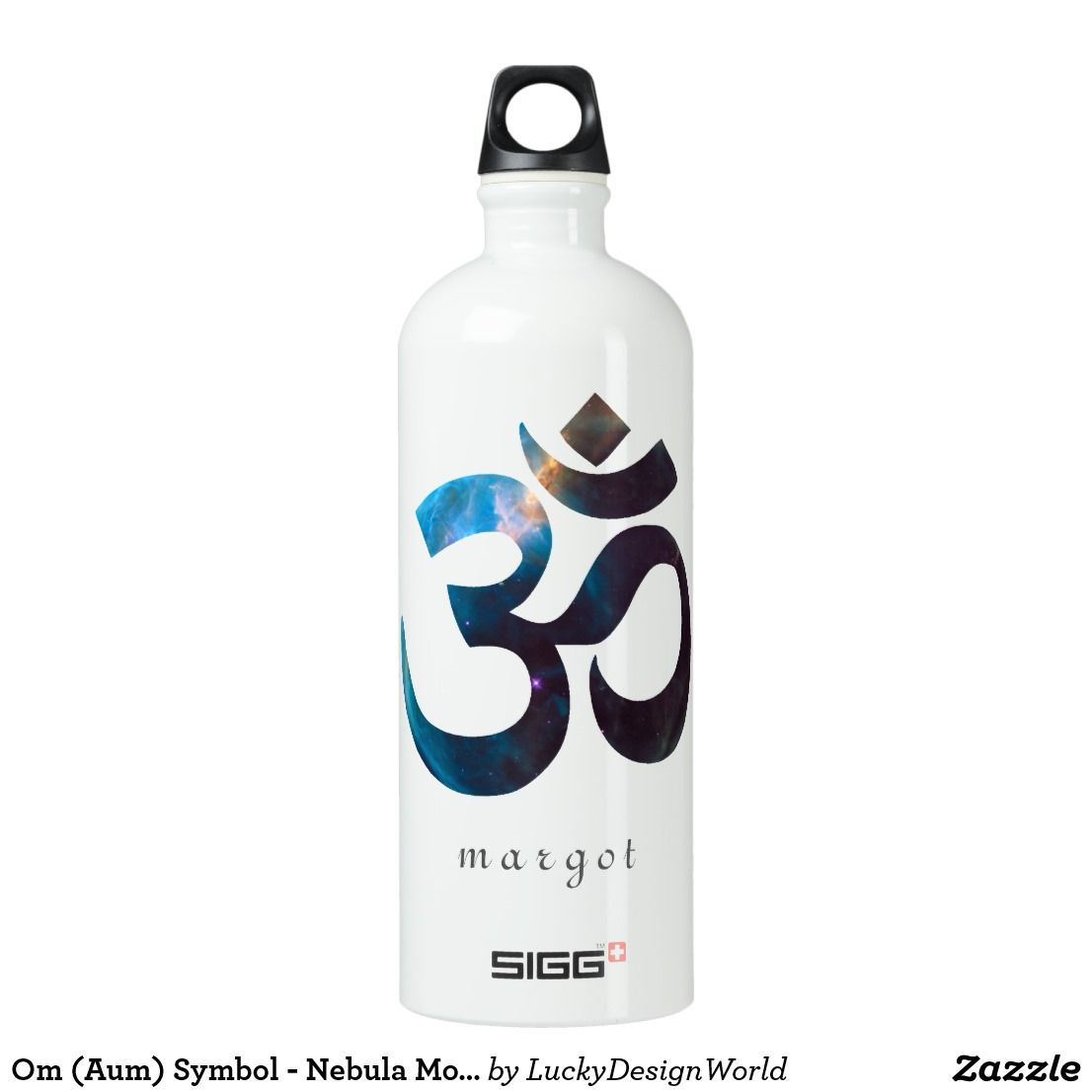 Tropical Typography Oahu Hawaii Personalize Aluminum Water Bottle