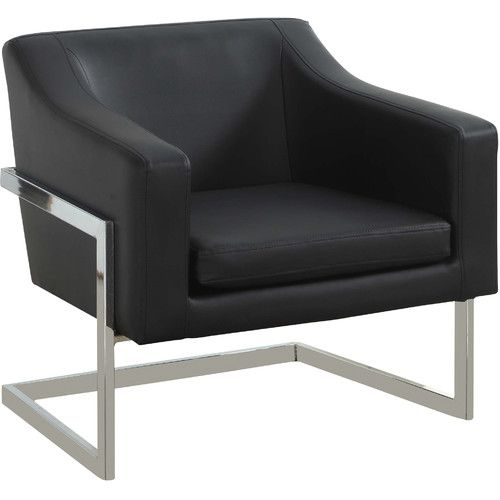 Admirable Found It At Wayfair Modern Club Chair With Chrome Legs Dailytribune Chair Design For Home Dailytribuneorg
