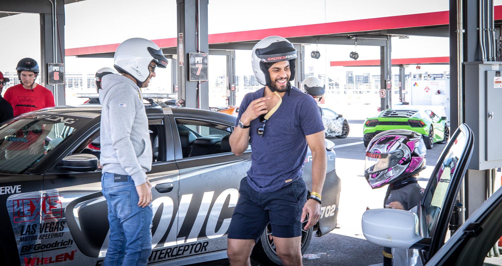 Celebrity Sighting Vegas Golden Knights Drive Supercars Go Karts At Exotics Racing Go Kart Vegas Golden Knights Super Cars