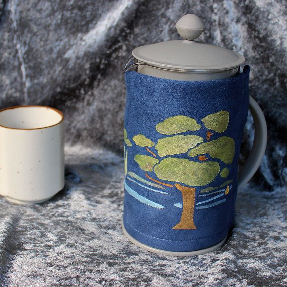 Landscape Coffee Pot Cosy Plunger By Dragonzwenchemporium