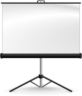 portable projection screen clipart - Projection Screens