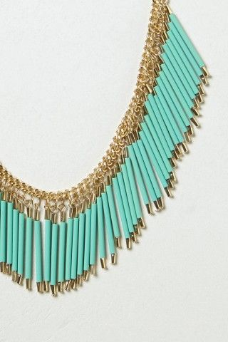 Fringed Quills Necklace | Anthropologie