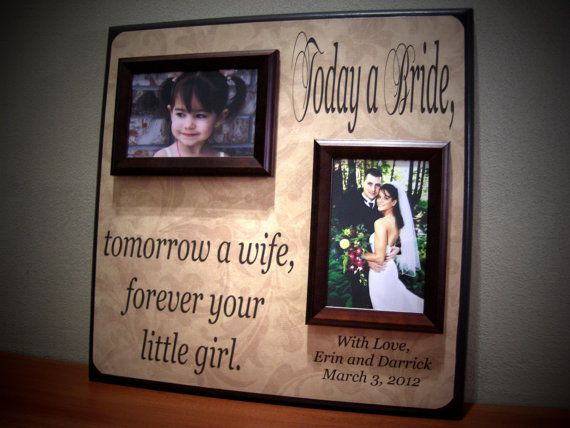 today a bride tomorrow a wife personalized picture frame wedding gift father mother of gift - Mother Of The Bride Picture Frame