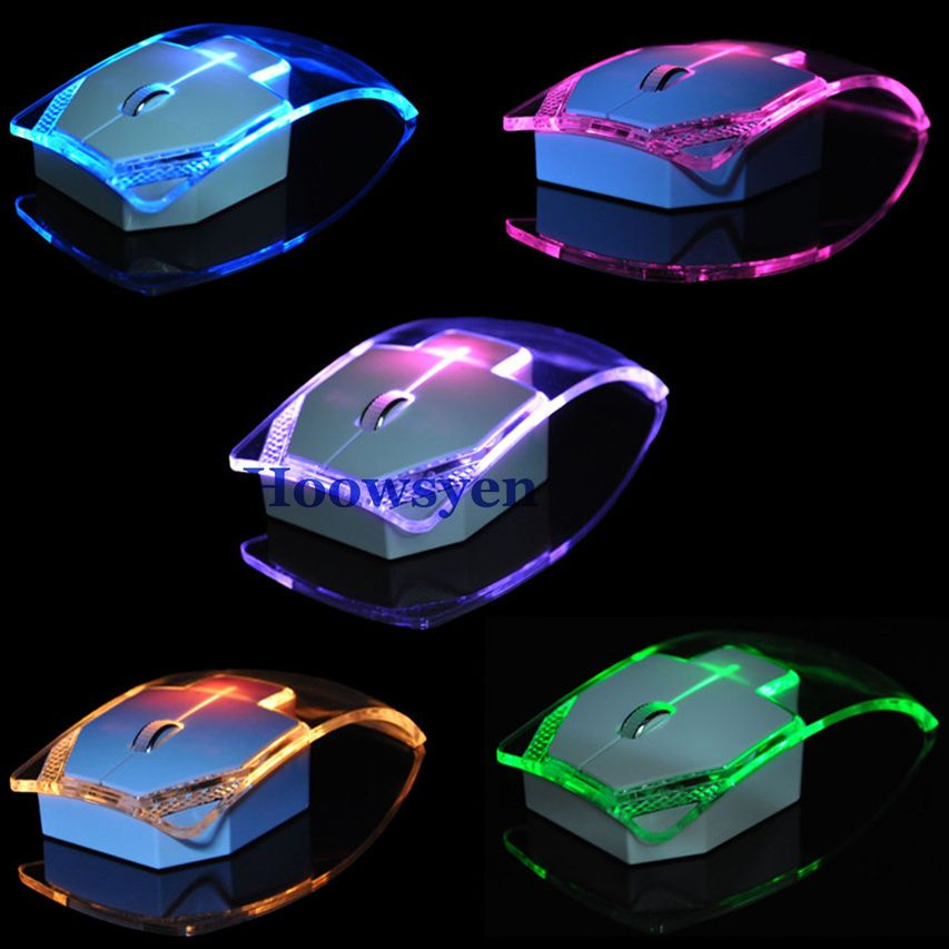 Glowing Wireless Mouse Gaming 2 4g Silent Gamer Transparent Led Ultra Thin 1000dpi Glow Gaming Mice For Notebook Des Laptop Mouse Mouse Computer Wireless Mouse