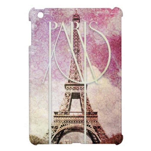 As Creation Pink Paris Pattern Eiffel Tower Childrens: Girly Pink, Purple Damask Eiffel Tower, Paris IPad Mini
