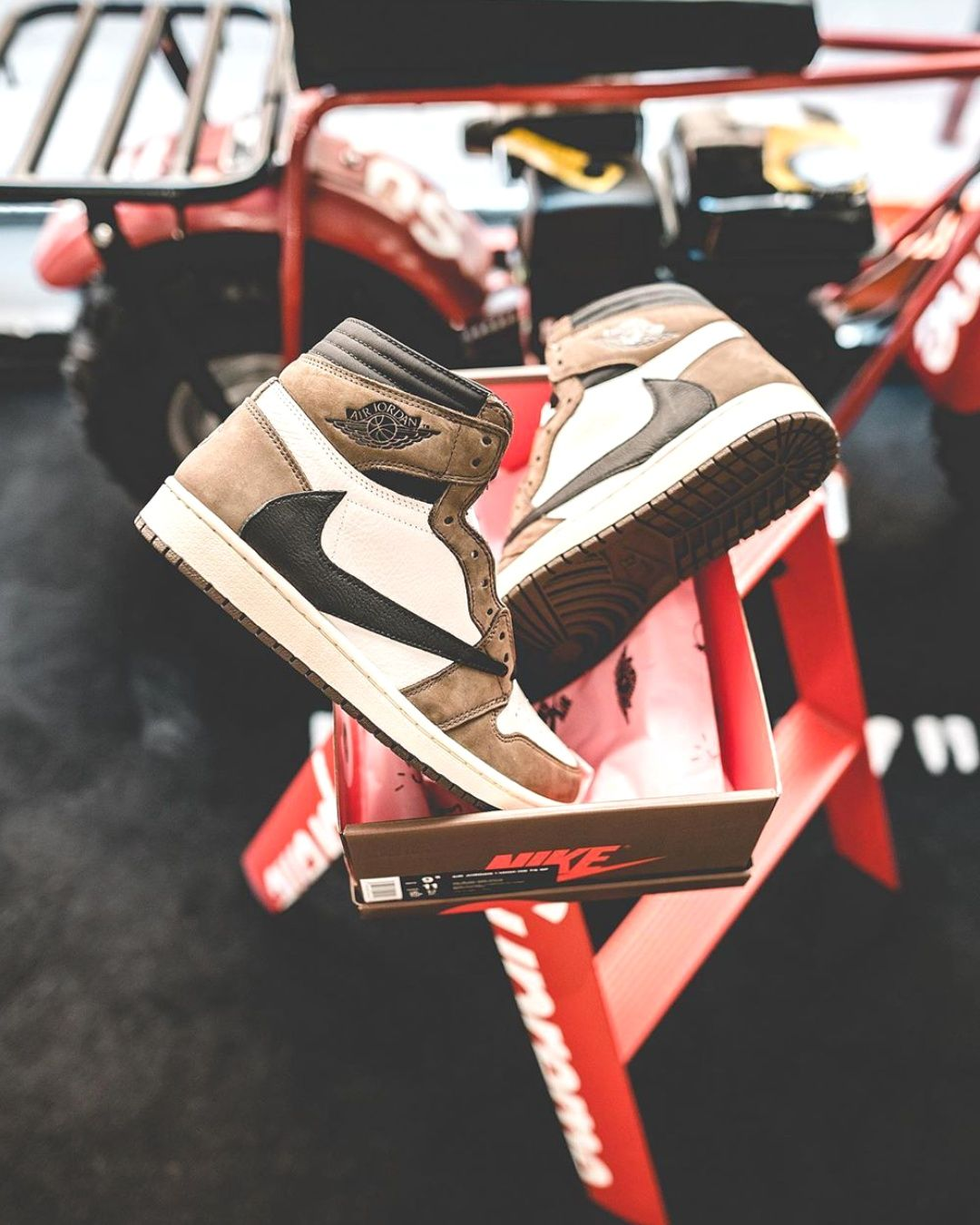 Jordan 1 Retro High Travis Scott 2020 Christmas Outifts Trendsoutfit Casual Shoes In 2020 Jordan 1 Retro High Travis Scott White Basketball Shoes