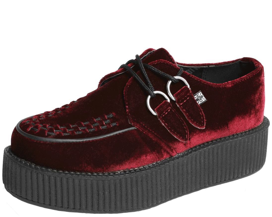 competitive price 5371a 514ee Burgundy Velvet Creepers | Shoes! | Velvet creepers, Velvet ...