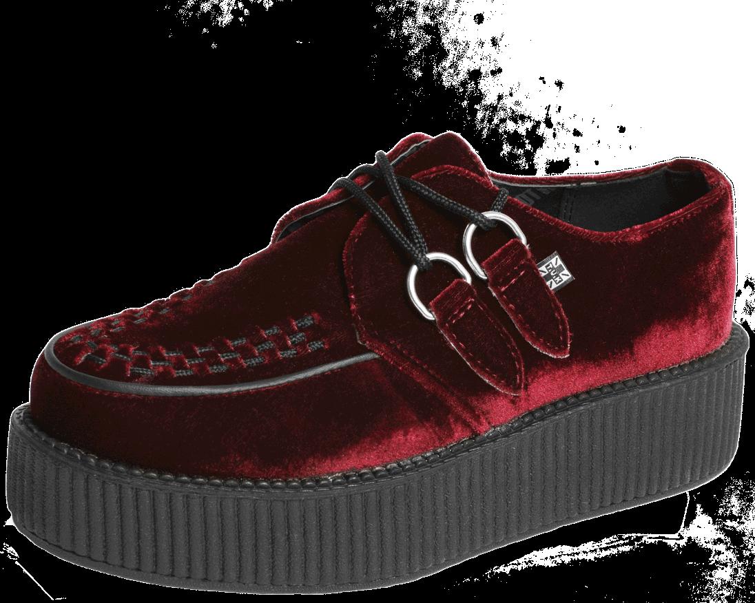 competitive price e0d62 70a71 Burgundy Velvet Creepers | Shoes! | Velvet creepers, Velvet ...