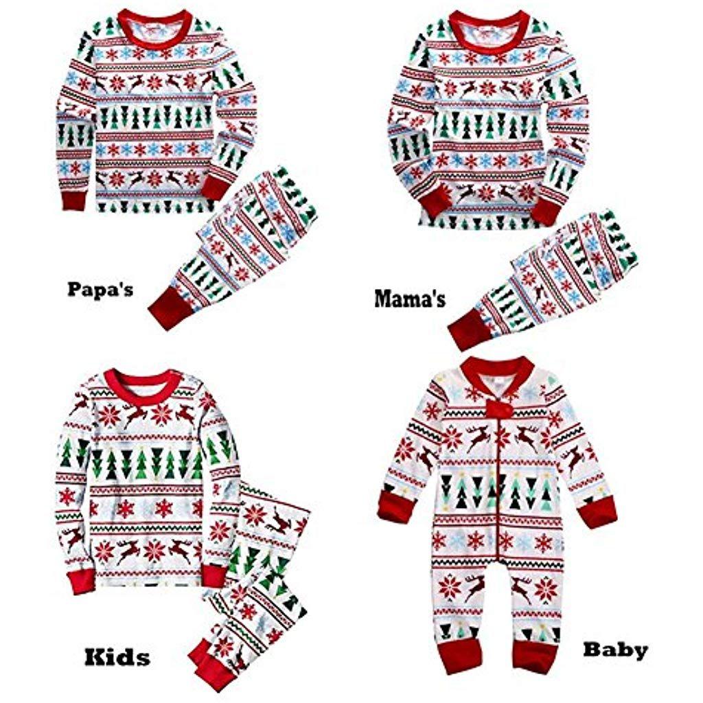 7367f4d0a9a1d Pyjamas Pyjamas famille de Noël vêtements assortis ensemble tenue Jumper  papa deux pièces maman enfants vêtements