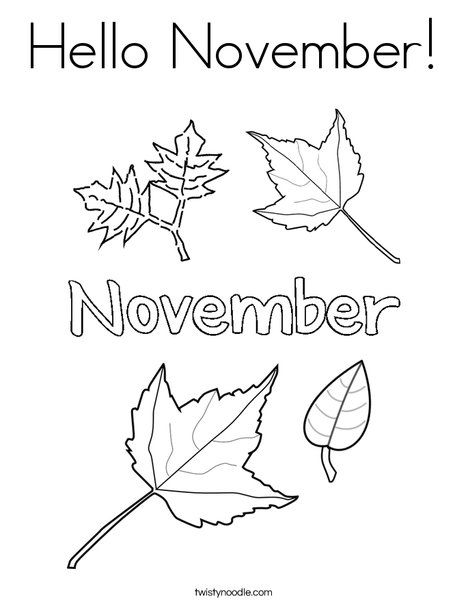 Coloring Pages November Concept