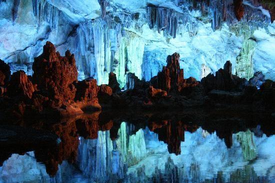 22 lugares espectaculares del mundo Cueva de la Flauta de Caña (Ludi Yan) Guilin, Guangxi Zhuang, China