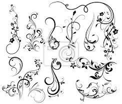 Resultado de imagen de siluetas florales