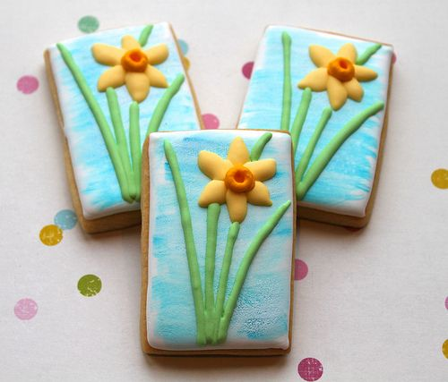 Daffodil cookies | Miss Biscuit | Flickr