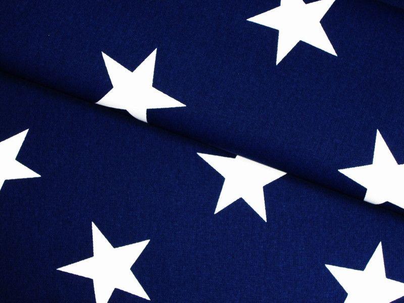 Stoff Grafische Muster Canvas Stoff Navy Stars Sterne Gross Dunkelblau Ein Stoffe Sterne Dunkelblau