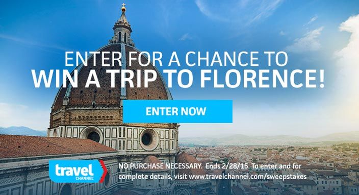 Travel channel florence sweepstake