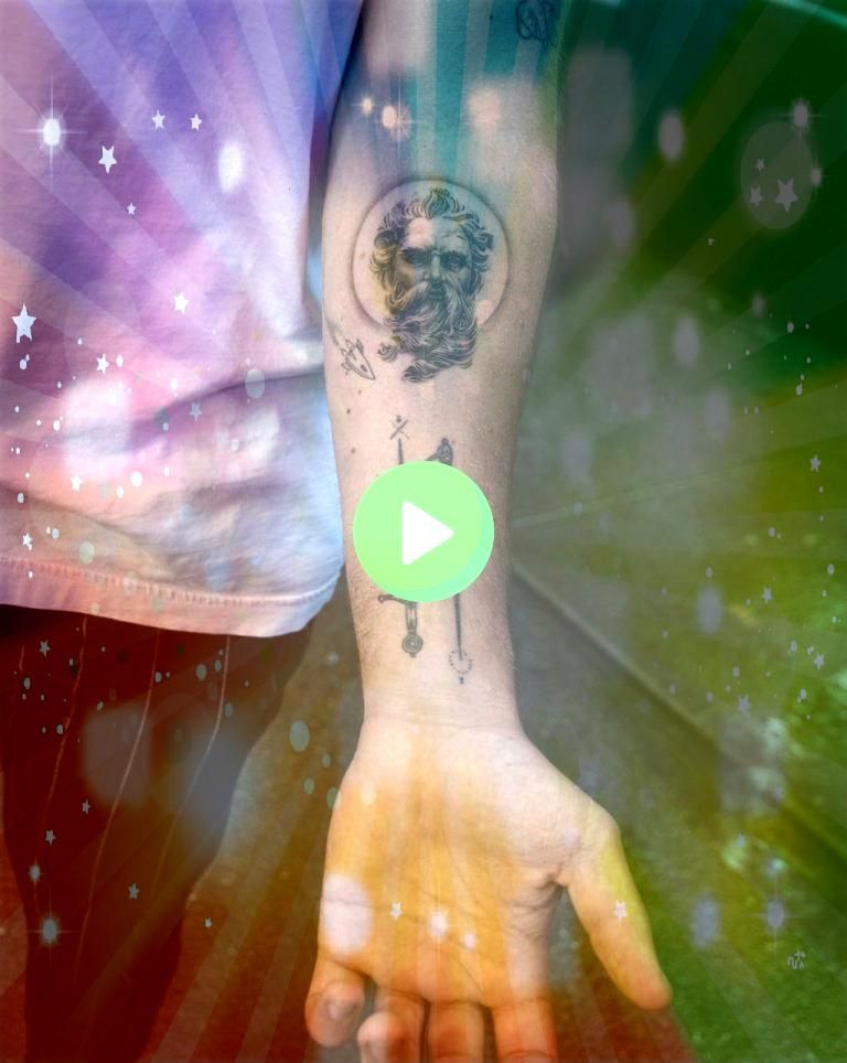 Epic Tattoos All Men Will Want To Copy 60 Epic Tattoos All Men Will Want To Copy  Detailed mans head tattoo on the right forearm Michael angel Caesar by Drag Ink This is...
