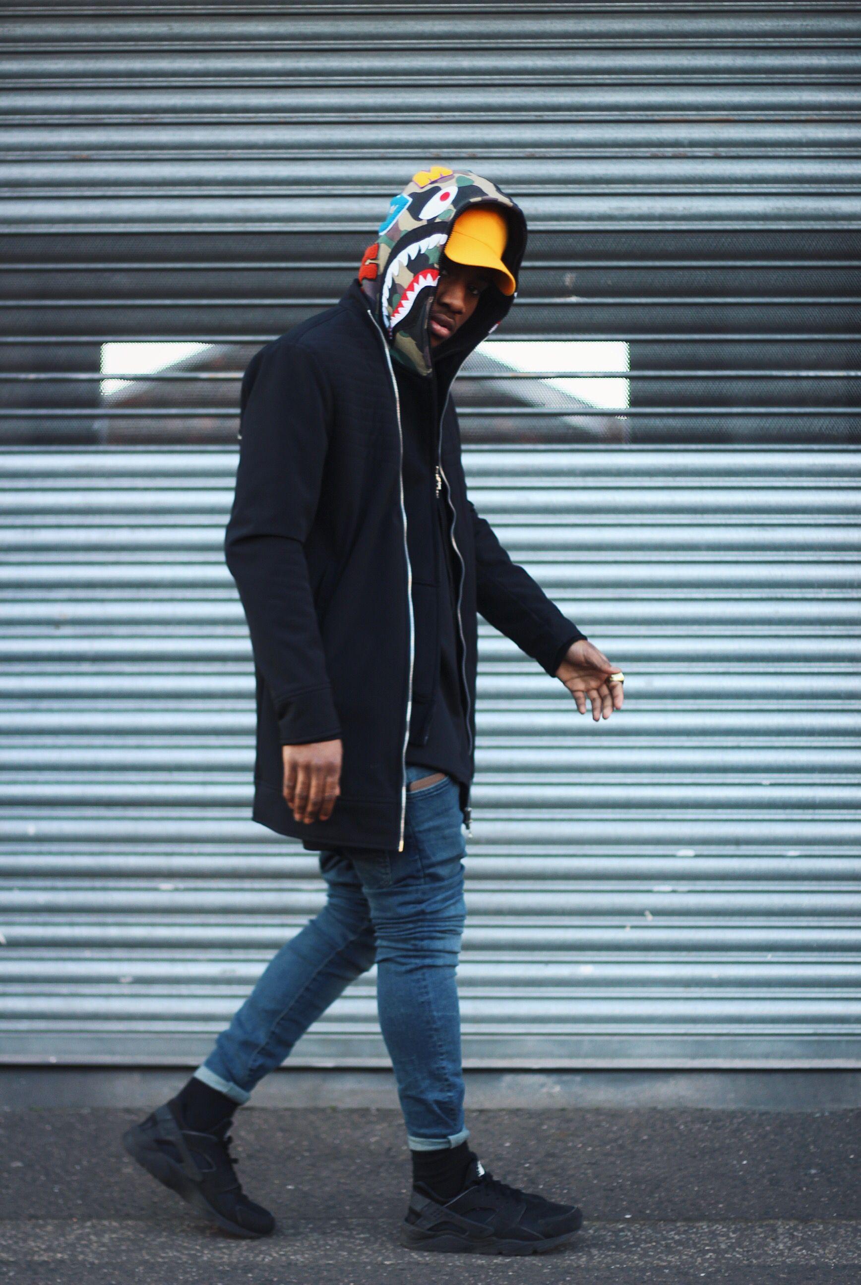 IAmVitalle bape shark hoodie || Follow @filetlondon for more street style #filetlondon | URBAN ...
