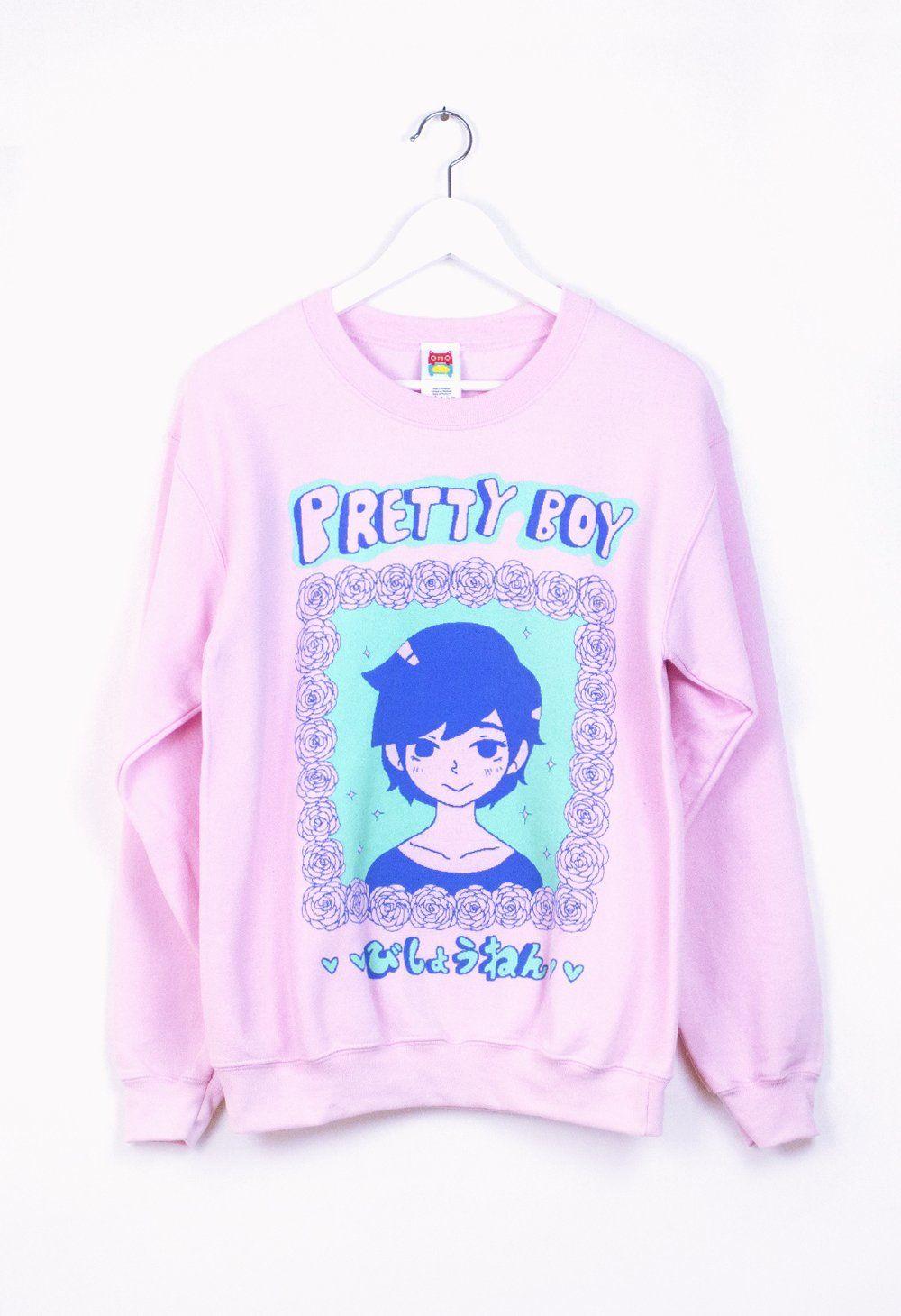 Prettyboy pink sweater kawaii clothes fashion blue