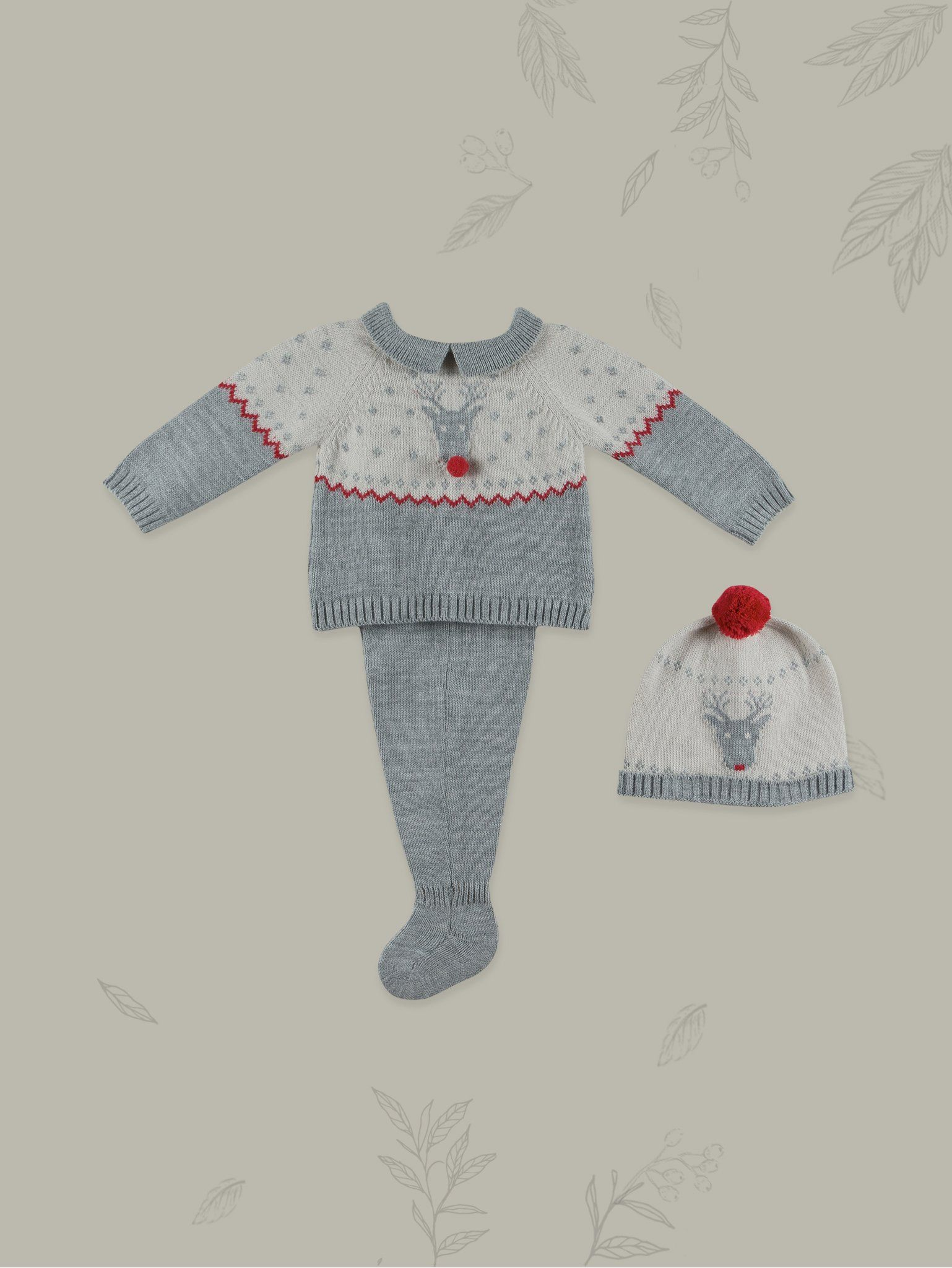 7fd1f2a08215 Baby Rudolph Winter 3-piece Set in 2018