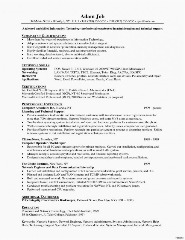 Technical Report Cover Page Template Professional Sample Resume For Technical Sales Engineer Best Of Photos Job Resume Examples Sample Resume Network Engineer