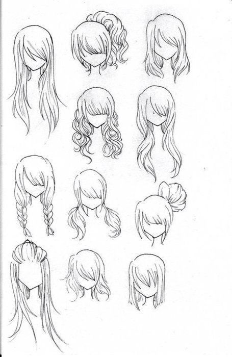 Drawing of different ways of your hair