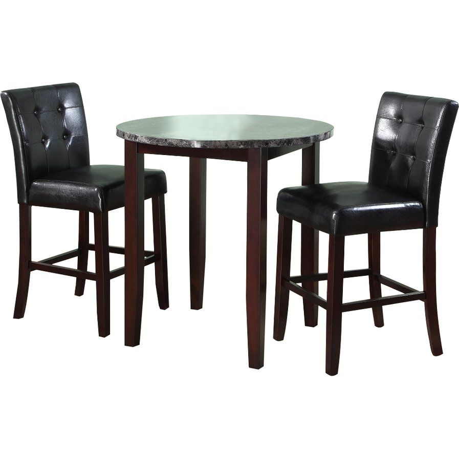 Horologium 3 Piece Counter Height Dining Set  Dining Table Simple Three Piece Dining Room Set Decorating Inspiration